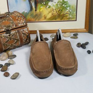 UGG Hunley Leather Slippers Shoes Loafers Sz 8